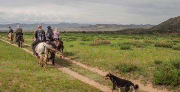 Optional Reiten bei Trekkingtour in der Mongolei